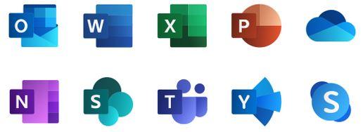 Microsoft 365 icons