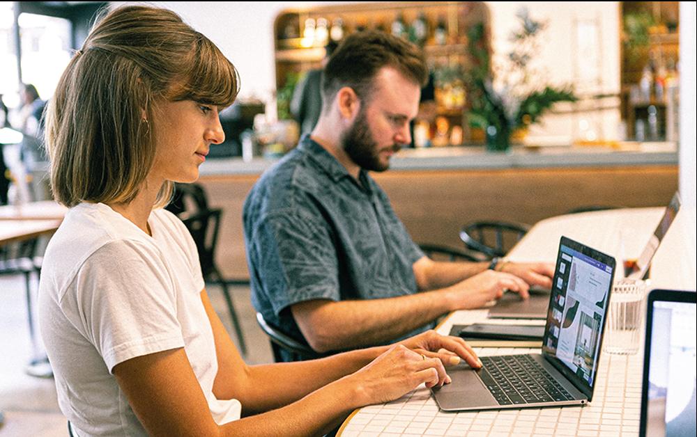 Designers using Macbook